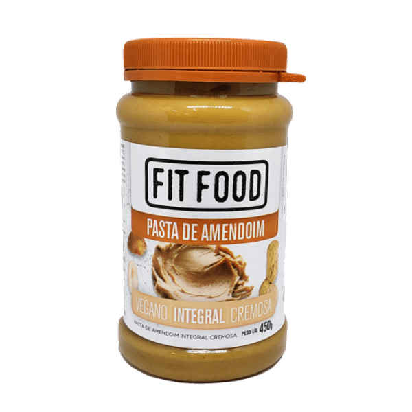 Pasta de Amendoim Integral Cremosa Fit Food 450g