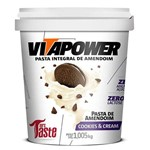 Pasta Integral de Amendoim Cookies & Cream 1,005kg - Vitapower - Vitapower - Vitapower
