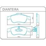 Pastilha de Freio Dianteiro Sem Alarme Jurid para Captur/ Duster/ Fluence - Hqj2302
