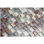 Pastilha de Vidro com Pedras Naturais e Metais 30x30 Tscr286 Tropical Stones