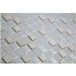 Pastilha de Vidro com Pedras Naturais e Metais TS510 Branco