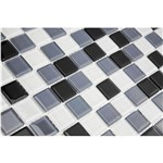 Pastilha de Vidro MIX01 Preto, Branco e Cinza