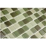 Pastilha de Vidro MIX04 Verde Claro e Verde Escuro