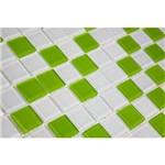 Pastilha de Vidro MIX05 Branco e Verde