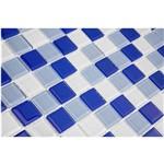 Pastilha de Vidro MIX10 Azul Claro, Azul Escuro e Branco