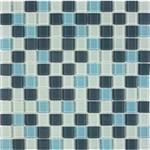 Pastilha de Vidro MIX11 Cinza, Branco e Azul Claro