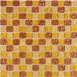 Pastilha de Vidro MIX27 Marrom, Amarelo e Bege