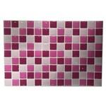 Pastilha Resinada Azulejo Mosaico Rosa Placa 20x30cm