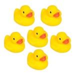 Patinhos para Banho Buba 6 Peças Esguicho de Água Amarelo