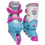 Patins Ajustáveis com Kit Proteção Frozen 3664 Dtc - Tam 33 a 36