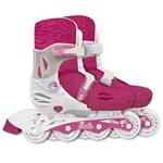 Patins Ajustável Barbie com Kit de Segurança 33-36 - Fun