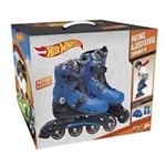 Patins Ajustavel Hot Wheels 33 a 36 com Acessorios de Seguranca 8007-8 Fun