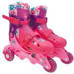 Patins Ajustável 3 Rodas Barbie 29 a 32 com Kit Proteção 7785-5 - Fun