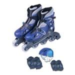 Patins Fênix Roller Azul Ajustável - Azul - 38 ao 41