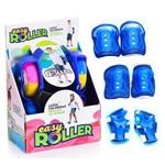 Patins Infantil para Adaptar no Tênis Easy Roller com Kit Proteção Azul