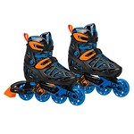 Patins Inline - Tracer Boy - Rollerderby - Azul e Preto - Tam 33/35 - Fila
