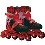 Patins Ladybug 4 Rodas Ajust. 33/36 Fun Par