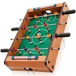 Pebolim Totó Futebol Mesa Portátil 12 Jogadores 2 Bolas e Placar - Diversão Garantida