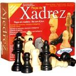 Peças para Xadrez em Madeira com Feltro - Xalingo Rei 8,5 Cm