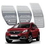Pedaleira Peugeot 2008 Manual 2015 Até 2019 Aço Inox
