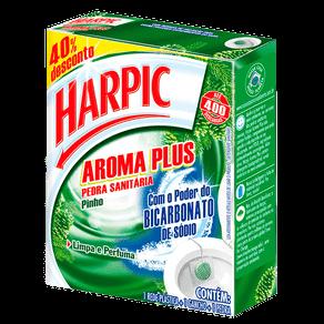 Pedra Sanitária Harpic Aroma Plus Pinho C/ 1 Unidade (40% de Desconto)
