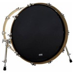 Pele Attack Drumheads 1-ply Black no Overtone 22¨ Resposta de Bumbo com Muffle Abafador Dhno22b