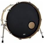 Pele Attack Drumheads 1-ply Black Ported 20¨ Resposta Preta de Bumbo com Furo Dh20p