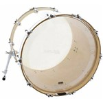 Pele Attack Drumheads 1-ply no Overtone Bass Clear 20¨ Pele de Bumbo com Muffle Abafador Dhno20