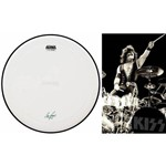 Pele Attack Drumheads Signature Eric Singer Kiss 14¨ Es14c Coated com Com Borda Anti-vibração