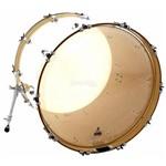 Pele Attack Drumheads Terry Bozzio Signature Clear 24¨ de Bumbo com Muffle Abafador Tbno24