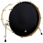 Pele Attack Drumheads Terry Bozzio Signature Thin Black Resonant 18¨ Resposta Preta de Bumbo Tbbl18