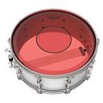 Pele Remo Powerstroke 77 Colortone Red 13¨ Dupla Vermelha com Abafador e Bola Central (15621)