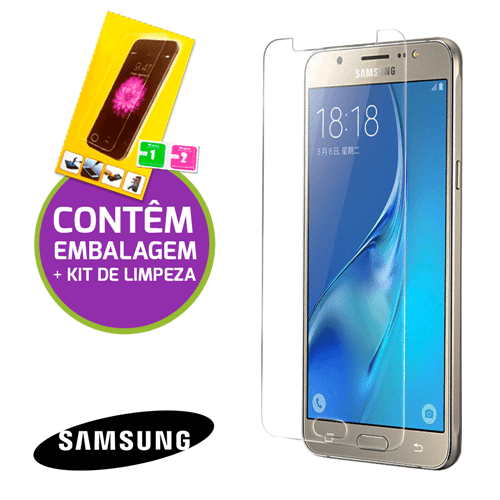 Película de Vidro Temperado com Embalagem e Kit de Limpeza - Samsung Galaxy A8 2018
