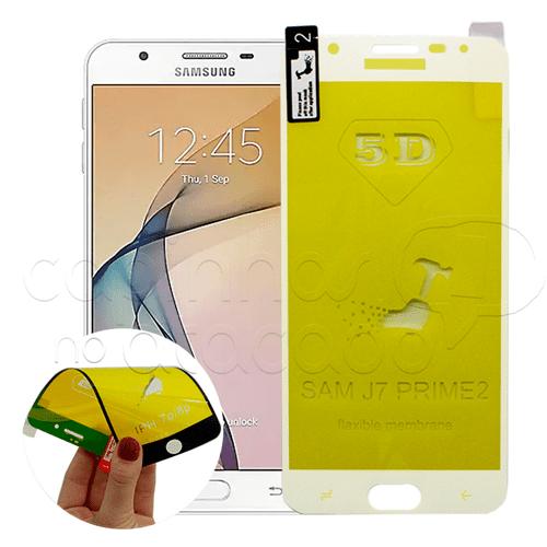 Película FlexGel 4D / 5D / 6D com Borda Branca - LG LG K10 - Branco