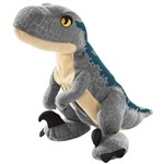 Pelúcia Básica - Jurassic World 2 - Ovo Plush Reversível - Velociraptor Blue - Mattel