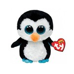 Pelucia Beanie Boos Medio Pinguim Waddles DTC 3814