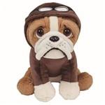 Pelúcia Buba Toys Cachorro Bulldog Aviador - 8251