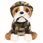 Pelúcia Buba Toys Cachorro Bulldog Militar - 7965