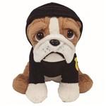 Pelúcia Buba Toys Cachorro Bulldog Policial - 8252