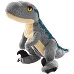 Pelúcia - Jurassic World 2 - Ovo Plush Reversível - Velociraptor Blue - Mattel