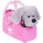 Pelucia na Bolsinha Barbie - Cachorrinho Cinza Bb0921