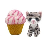 Pelúcia Sweet Pet - Gato Vira Sorvete - Berry Stripes - Toyng