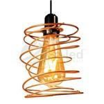 Pendente Mola Duplo Aramado Cobre com Lampadas Filamento Led Vintage