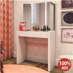Penteadeira Camarim Paris 100% Mdf com Espelho e Led Branco - Pnr Móveis