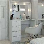 Penteadeira Camarim Sao Francisco com Espelho Branco - Pnr Móveis