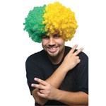 Peruca Black Power Verde e Amarela - Copa do Mundo
