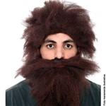 Peruca com Barba Homem das Cavernas