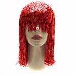 Peruca Metalizada Vermelha