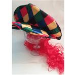Peruca Palhaço com Chapéu Colorido - Unidade