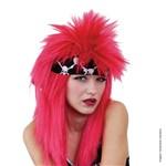 Peruca Punk com Faixa Rosa